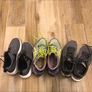 Bundle of sneakers
